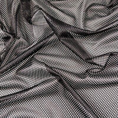 Eyelet Airtex Sports Mesh Fabric Black Lining /& Sportswear