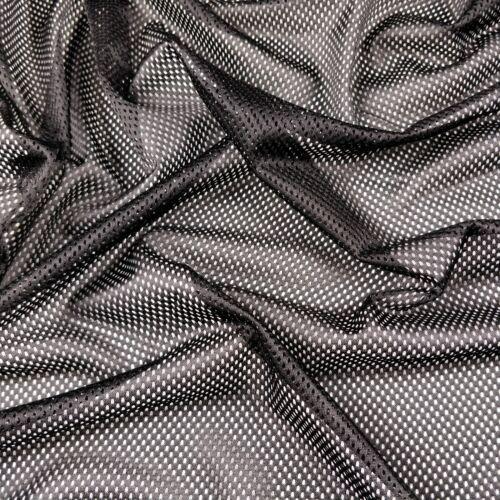 FS002 Eyelet Airtex Jersey Net Mesh Fabric White 1 Metre Black Red Mustard