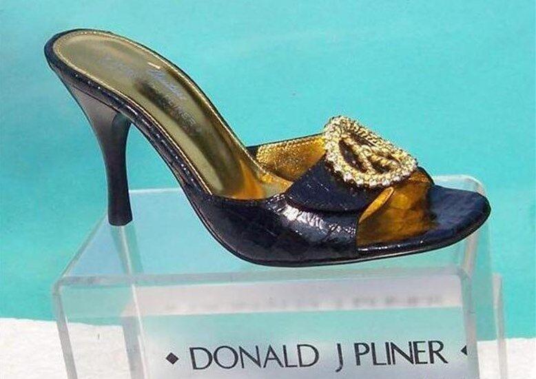 garanzia di credito Donald Pliner Couture Gator Leather Slide Slide Slide scarpe New Mule Rhinestone  280 NIB 5.5  tutto in alta qualità e prezzo basso