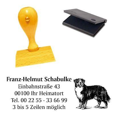 100% QualitäT Adressenstempel « Berner Sennenhund 1 » Mit Kissen - Hundeschule Haustier Hindernis Entfernen