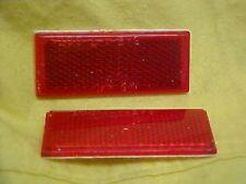 Harley,Shovel head 73-85 , FX, FLH, 2 New red reflectors rear struts,saddle bags