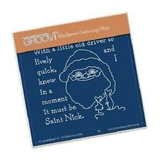 CLARITY STAMP GROOVI Parchment A6 Embossing Plate TWAS THE NIGHT 06 St Nick