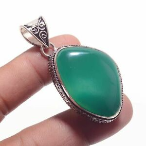 Green-Onyx-Ethnic-Jewelry-Handmade-Antique-Desgin-Pendant-BP-2130