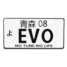 JDM Style, Universal Suction-Cup Fit, EVO NRG Innovations MP-001-EVO Aluminum Mini License Plate