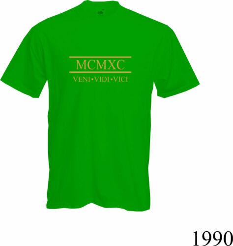 2020 30th ANNIVERSAIRE cadeau NEUF Chiffres romains 1990-T shirt FUN cadeau