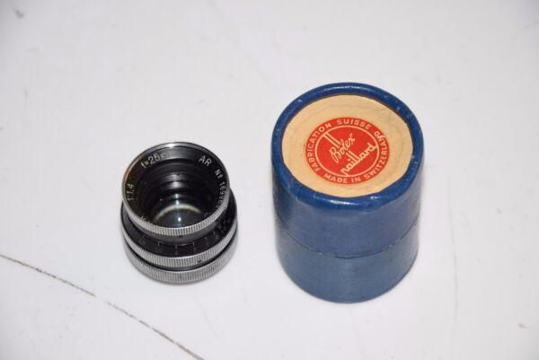 Bolex 16 Mm Objectivement Kern-switar 1:1,4/25mm Ar Soyez Amical Lors De L'Utilisation