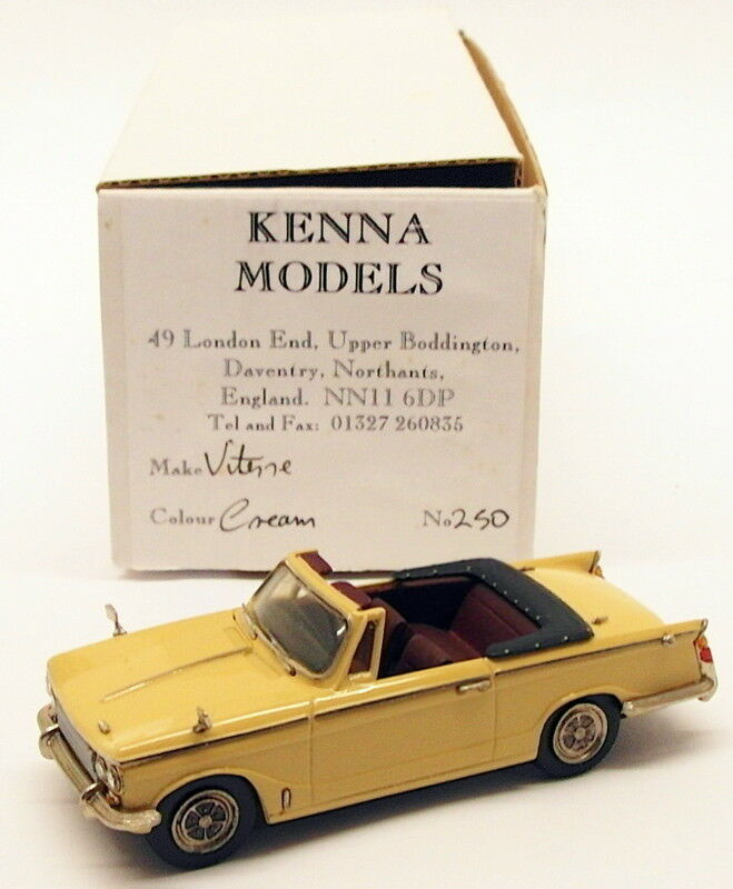 Kenna models 1 43 scale model car k250-TRIUMPH VITESSE Converdeible-Cream