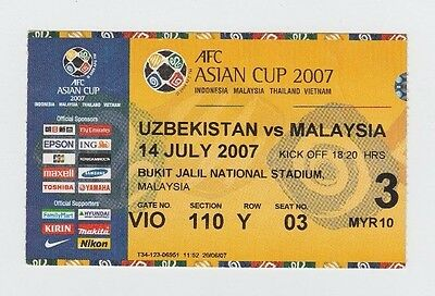 Gut Orig.ticket Asienmeisterschaft / Asian Cup 2007 Malaysia - Usbekistan ! Selten