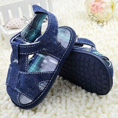 Jean Style Newborn Baby Shoes Boy Girl Kid Sandal Infant Cozy Soft Toddler Shoes