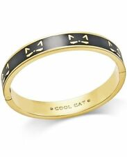 2b60613dc Kate Spade Idiom Bangles Goldtone Black Cool Cat Bangle Bracelet ...