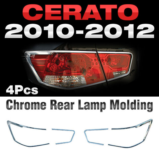 Chrome Rear Lamp Garnish Molding B616 For KIA CERATO FORTE Sedan 2010-2012