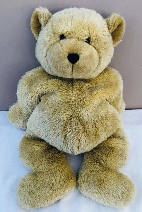 Jellycat Huge Squidgy Teddy Bear golden Tan Soft Toy Plush Vintage Retired 1999