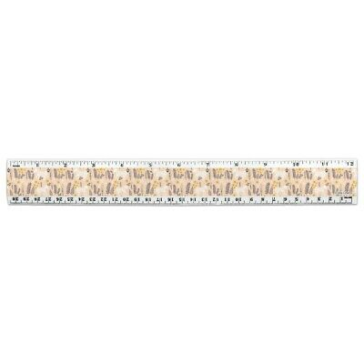 Horse Rearing Up on White 12 Inch Standard and Metric Plastic Ruler