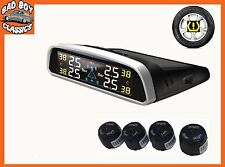 TPMS Wireless SOLAR Powered Tyre Tire Pressure Monitor System GO KART MOTORSPORT