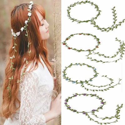 Rose Flower Crown Headband Hair Garland Bride Wedding Headwear Beach Accessories