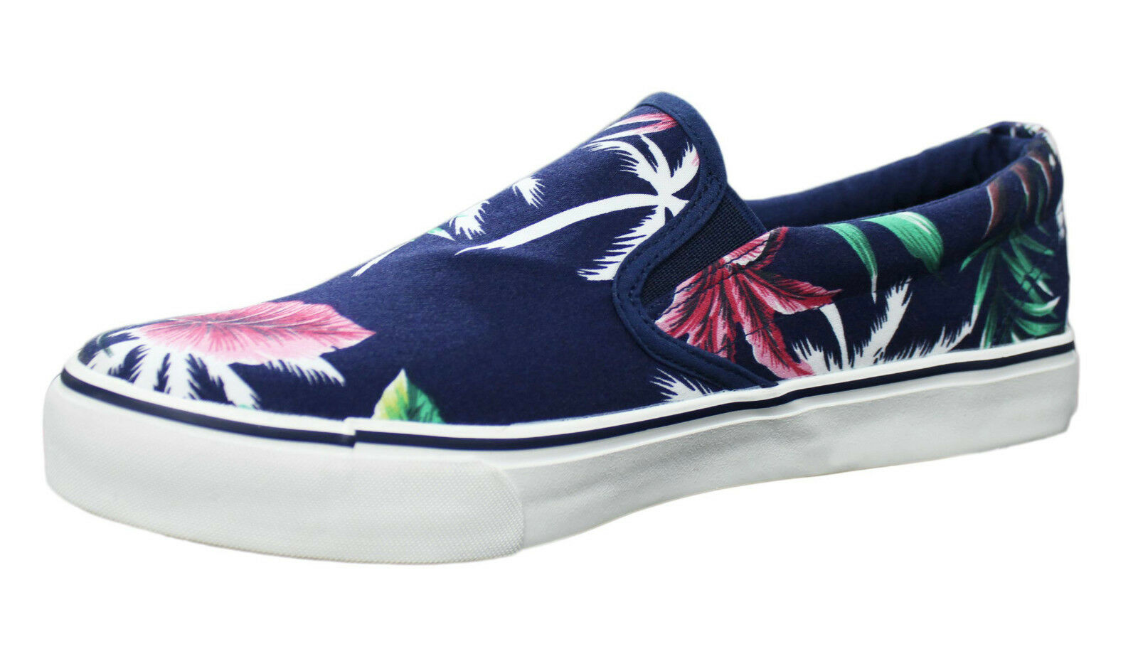 SNEAKERS SHOES MAN BLU FLORAL CASUAL SHOES a LOAFERS FIORE da 40 a SHOES 45 0527c8