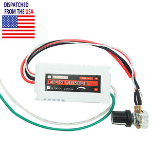 DC 12V PWM Motor Speed Control Controllor For Fan Pump Oven Blower with Switch