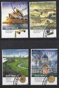 AUSTRALIA-2020-WORLD-HERITAGE-SITES-SELF-ADHESIVE-SET-OF-4-FINE-USED