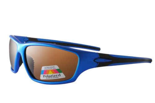 Cycling Sport Sunglasses Blue Black Brown Polarised Case Included SP015 Col 1