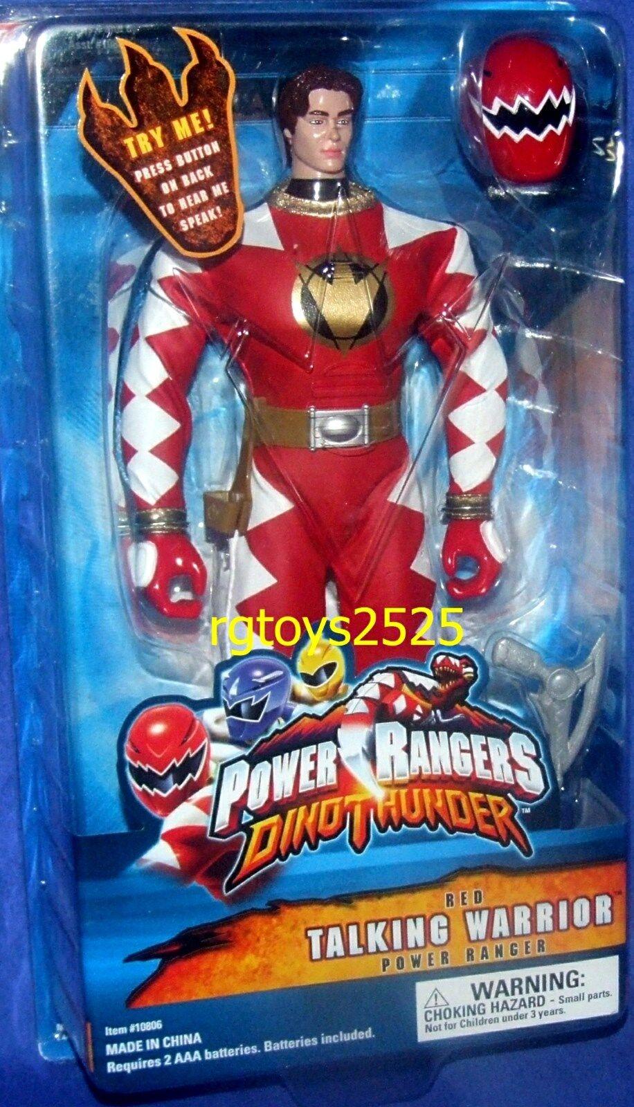 Power rangers dino donner rot 12  ranger mit neuen mit abnehmbaren helm 2003