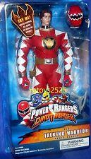 """Power Rangers Dino Thunder RED 12"""" Ranger Talking New with Removable Helmet 2003"""