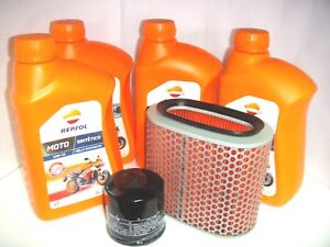 OIL-REPLACEMENET-KIT-REPSOL-SYNTHETIC-10W-40-HONDA-1100-VT-Shadow-C2-1995-1996