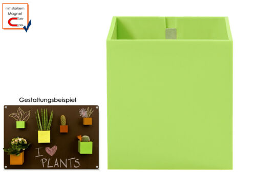Wall Storage Holding Cushion Plastic Pot M kalamitica Magnet Ø 9 cm Limegrün
