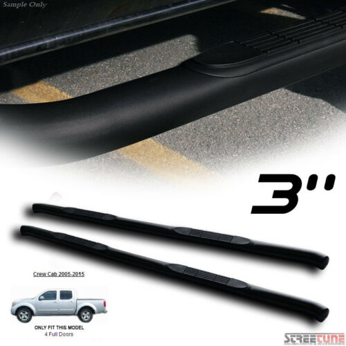 """For 05-20 Frontier Crew Cab 3/"""" Matte Black HD Side Step Nerf Bars Running Boards"""