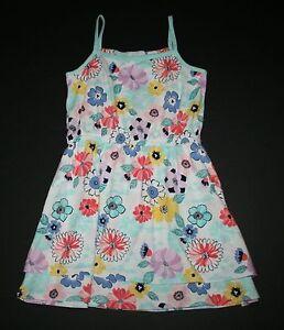 New-Gymboree-Floral-Sleeveless-Summer-Sun-Dress-Size-7-year-NWT-Tropical-Breeze