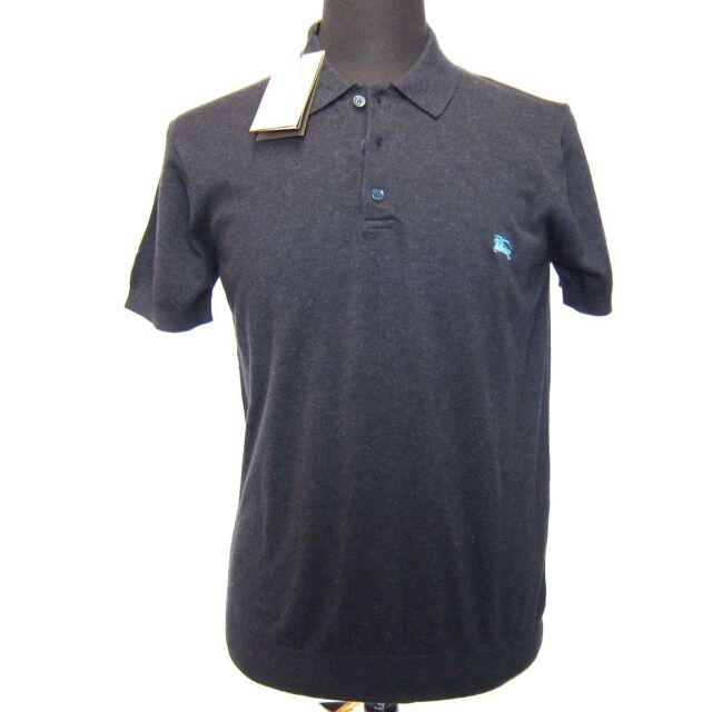 L-1271985 New Burberry Brit Navy Polo Shirt Size S