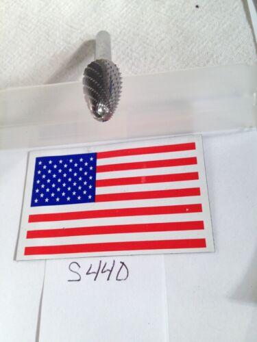 """END CUT DOUBLE CUT 1 NEW FALCON // SGS 1//4/"""" SHANK CARBIDE BURR SF-5 S440"""