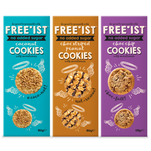 Details About No Added Sugar Freeist Cookies Chocolate Chip Coconut Peanut Biscuit Sweetener