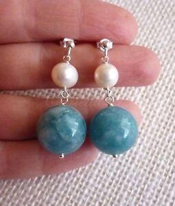 Orecchini-argento-925-perle-naturali-bianche-e-angelite-blu