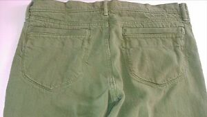 Old-Navy-Capri-Jeans-Womens-SZ-12-Green-36-x-16-Actual-Lowest-Rise-Cotton-Pants