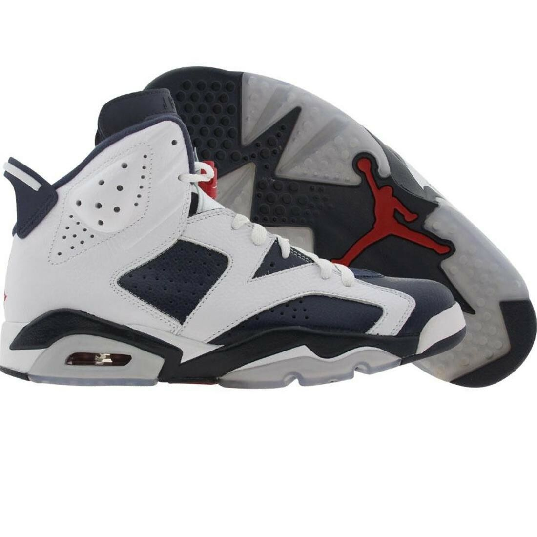 $380 New Vintage Nike Air Jordan 6 VI Retro - Olympic 2012 white navy /red 38
