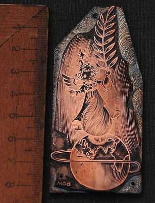 Schutzengel Galvano Druckstock Kupferklischee Druckplatte Eichenberg Engel