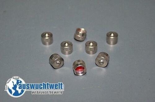 Válvula de acero brevemente gorra 6,7mm polvo capuchón niquelados 50st