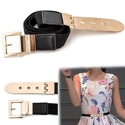 Lady Strap Elastic Waistband Belt Woman Wide Fashion Black Belt