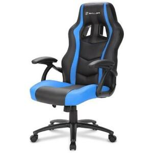 SHARKOON-Sedia-Gaming-Skiller-SGS1-in-Pelle-Sintetica-Colore-Nero-e-Blu