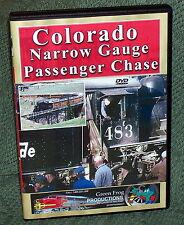 "20331 TRAIN VIDEO DVD ""COLORADO NARROW GAUGE PASSENGER CHASE"" RIO GRANDE"