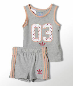 Image Is Loading Adidas Originals Infant Girls Americana Tank Tee And
