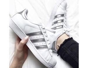 segunda mano Hormiga mordaz  Adidas Originals Superstar Lifestyle Women's Shoes AQ3091 White Silver  Authentic | eBay