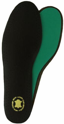 Deluxe dessus en cuir noir avec Poron en mousse à mémoire de Tailles UK 3-16
