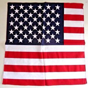 "AMERICAN EAGLE USA FLAG = 3 PC SET BANDANA DURAG NECK SCARF SQUARE 22/"""