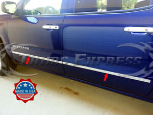 2014-2018-Chevy-Silverado-Sierra-Crew-Cab-Flat-Body-Side-Molding-Stainless-Trim