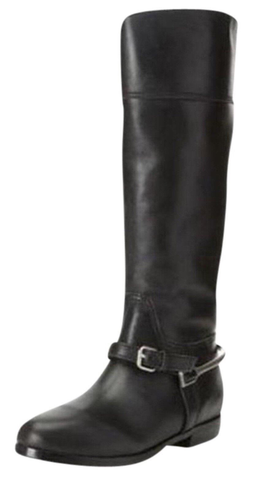 Pour La Victoire Marne para mujer botas botas botas de montar de cuero negro, tamaño  7.5 M. ab456b
