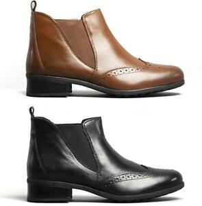 Comfort-Plus-CHELSEA-Ladies-Womens-Real-Smooth-Soft-Leather-Casual-Ankle-Boots