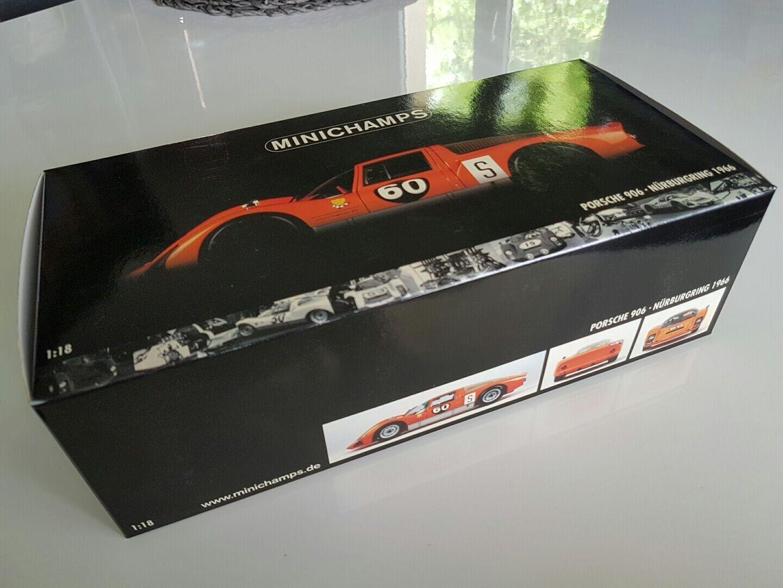 NEW Minichamps 1 18 100666160 Porsche 906 Nurburgring 1966 D.VAN LENNEP