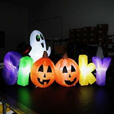 halloween inflatable yard decoration pumpkin ghost party decor led lights 7 ft - Halloween Inflatable Yard Decorations