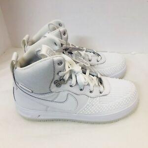 SALE Kids Nike Lunar Force 1 Duckboot Triple White 882842-100 Boot